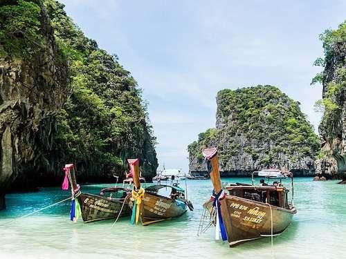 Phi Phi island long boat itinerary