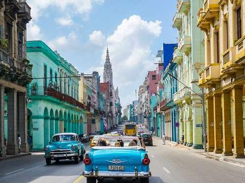 Colorful Central Havana Cuba