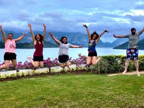 Thailand group travel group jump shot