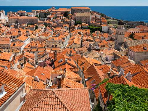 Dubrovnik Croatia Old Town Orange Rooftops