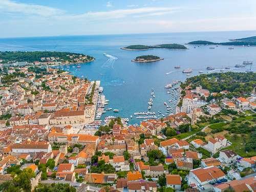 Hvar Croatia fortress top view