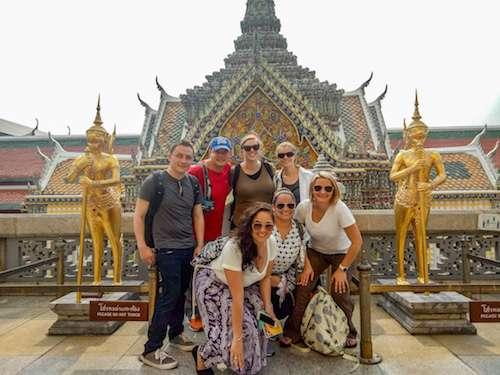 Bangkok Thailand Royal Palace statues group
