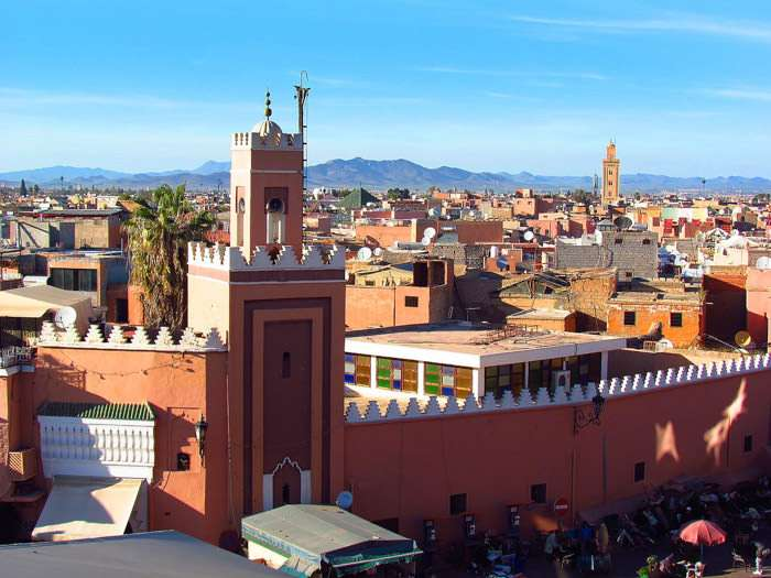 Rooftops in Marrakech Morocco