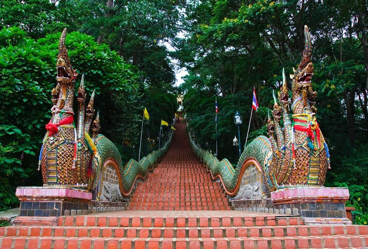 Entrance to Doi Suthep in Chiang Mai