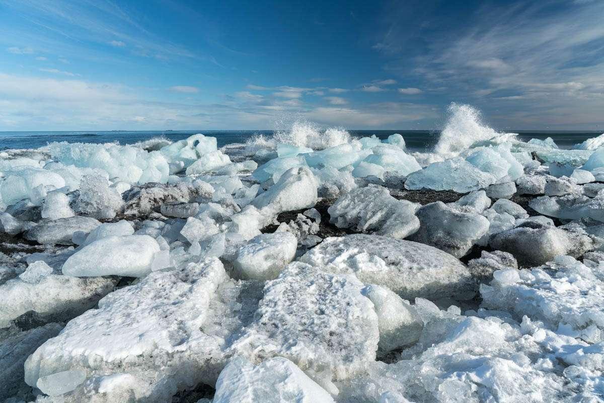 Icebergs at Diamond Beach Jokulsarlon