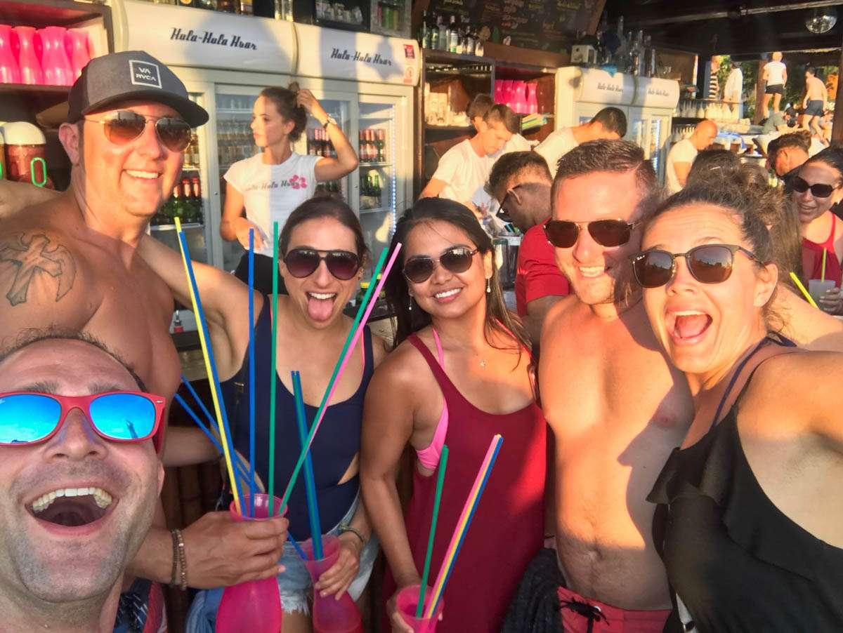 Fun times at Hula Hula club Hvar
