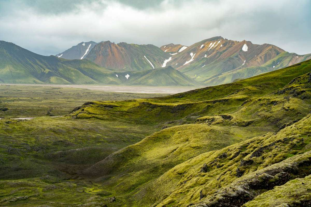 Misty highlands of Iceland