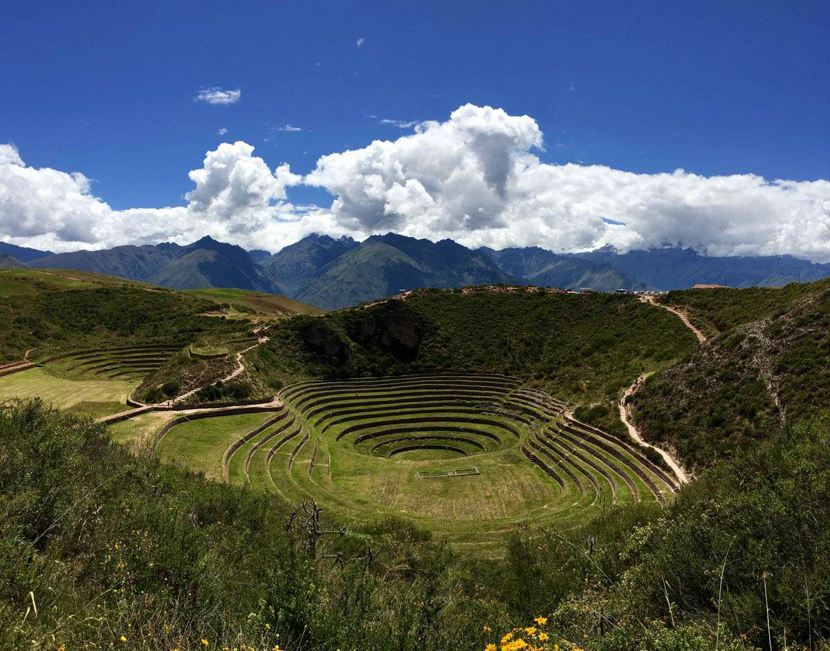 Beautiful Inca site of Moray Sacred Valley Peru