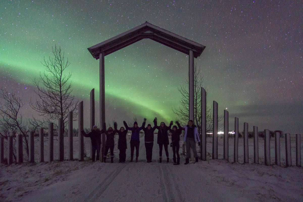 Northern Lights outside our guesthouse