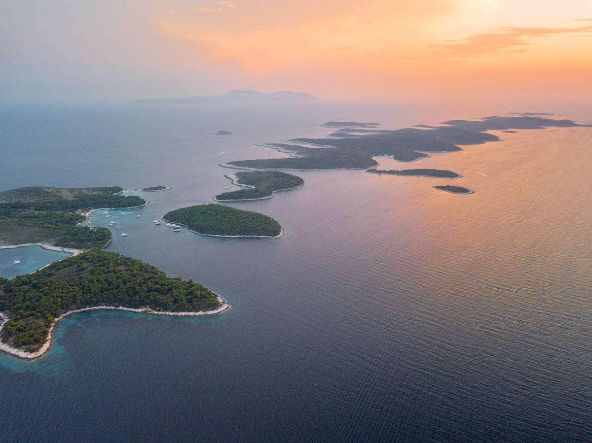 Palmizana islands off Hvar Croatia