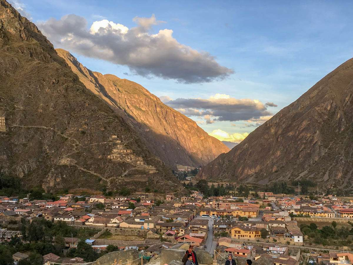 Mountains and Ollantaytambo village
