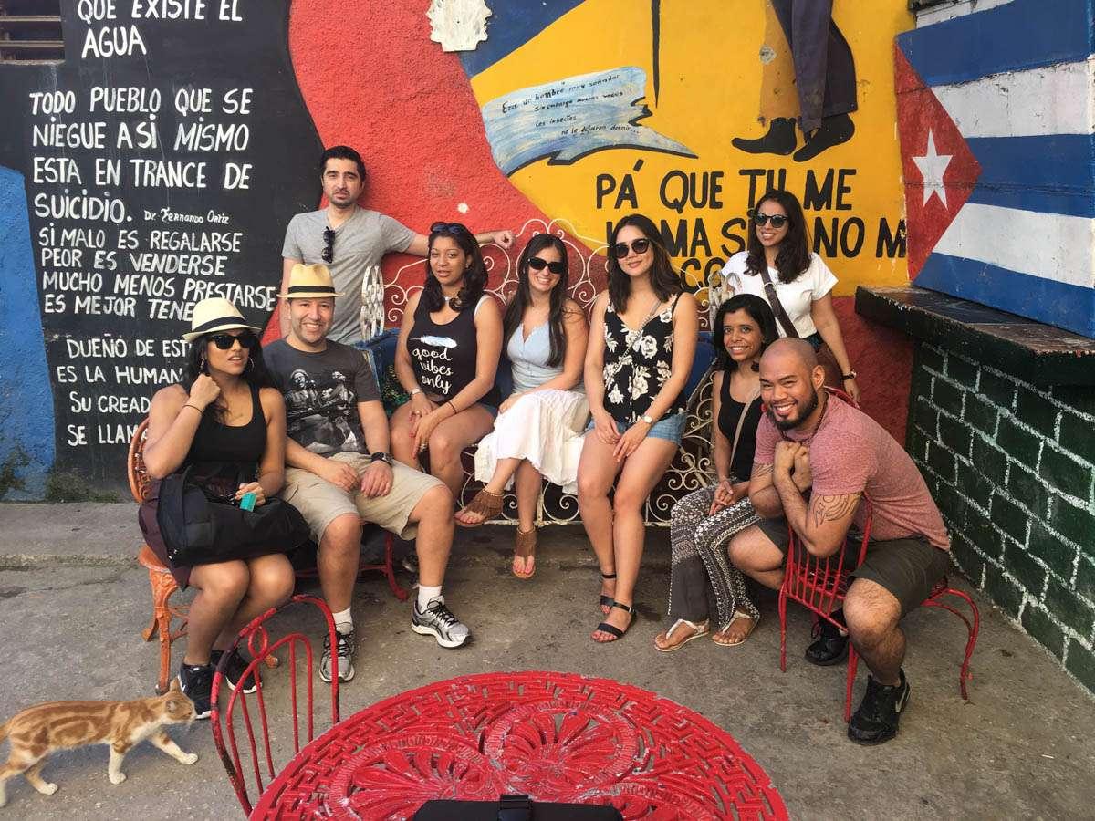Hanging out in Callejon de Hammel Havana Cuba