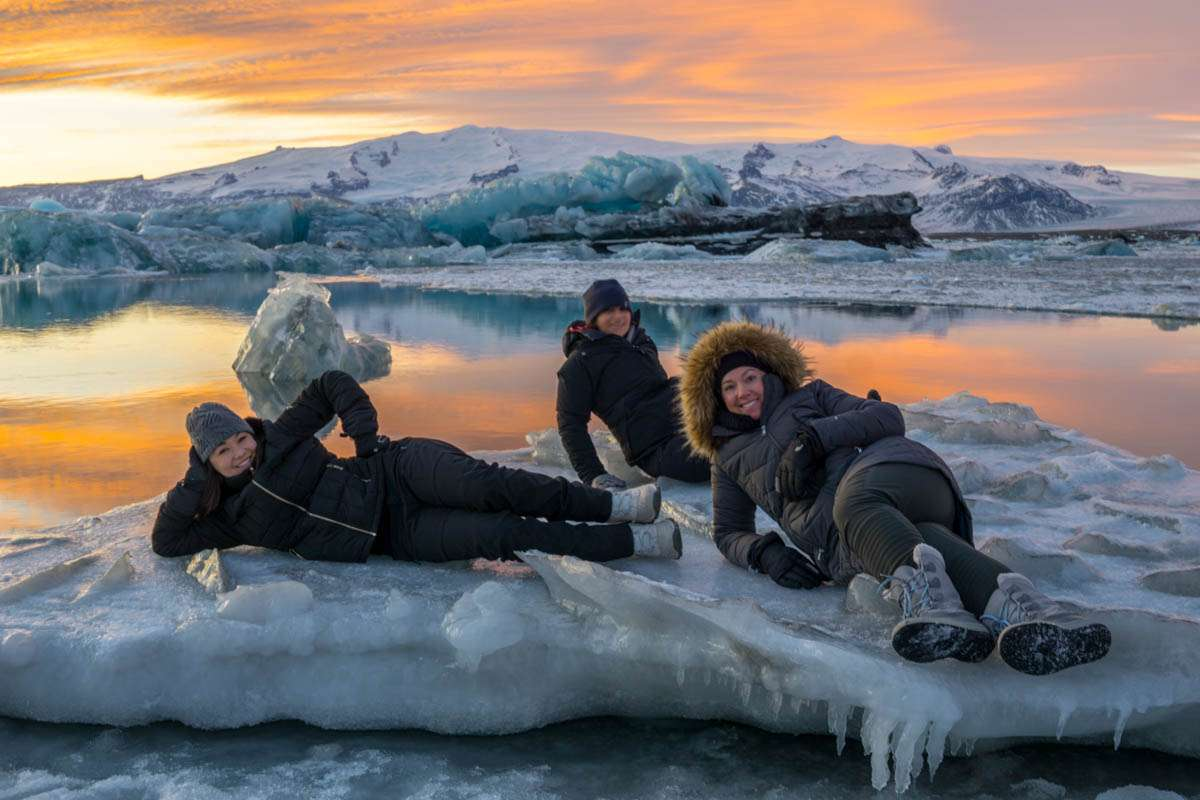Modeling it out on icebergs