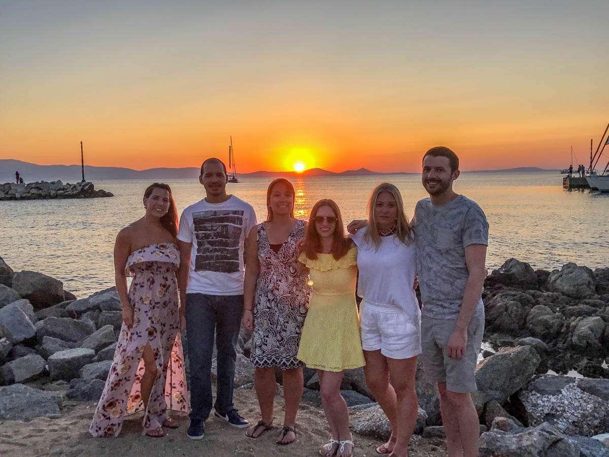 Beautiful sunset in Naxos Greece