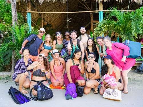 Belize group travel shot Caye Caulker