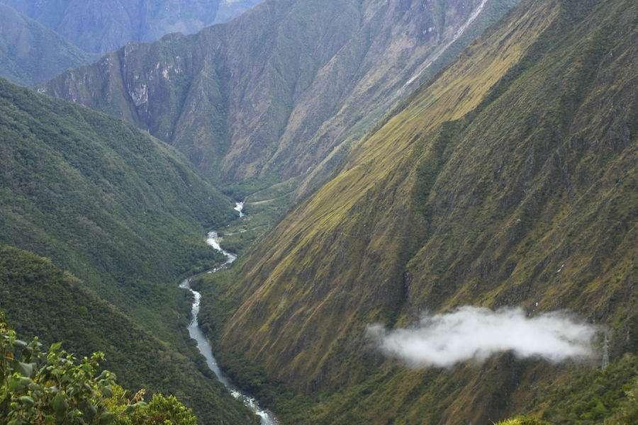 River twisting through mountains in Peru