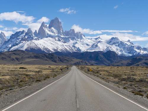 Road to El Chalten Patagonia Argentina itinerary