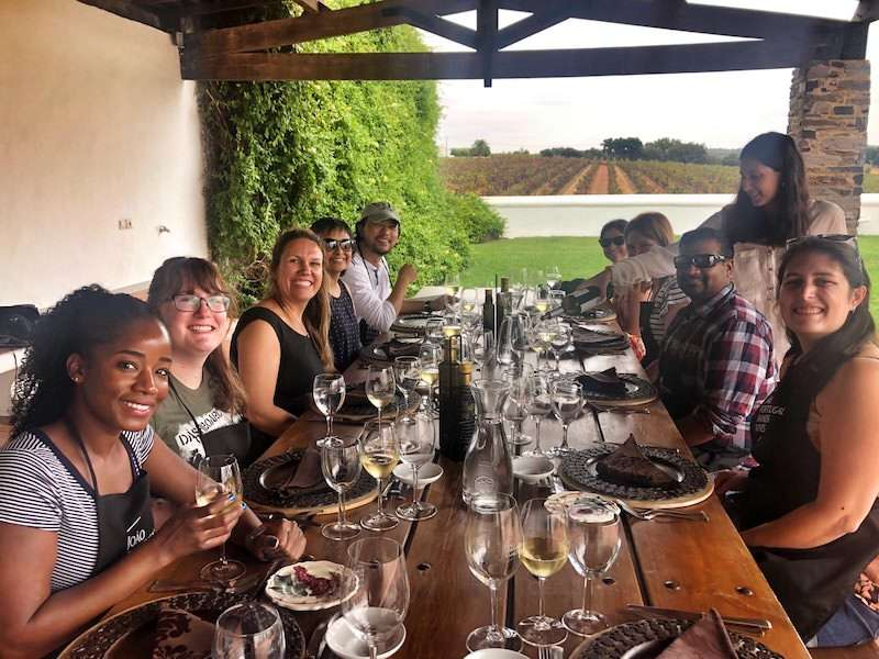 Group lunch Alentejo winery Portugal