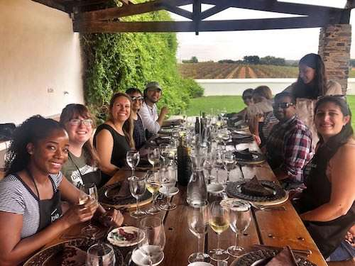 Group lunch Alentejo winery Portugal itinerary