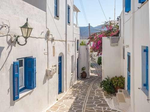 Naoussa street Paros island