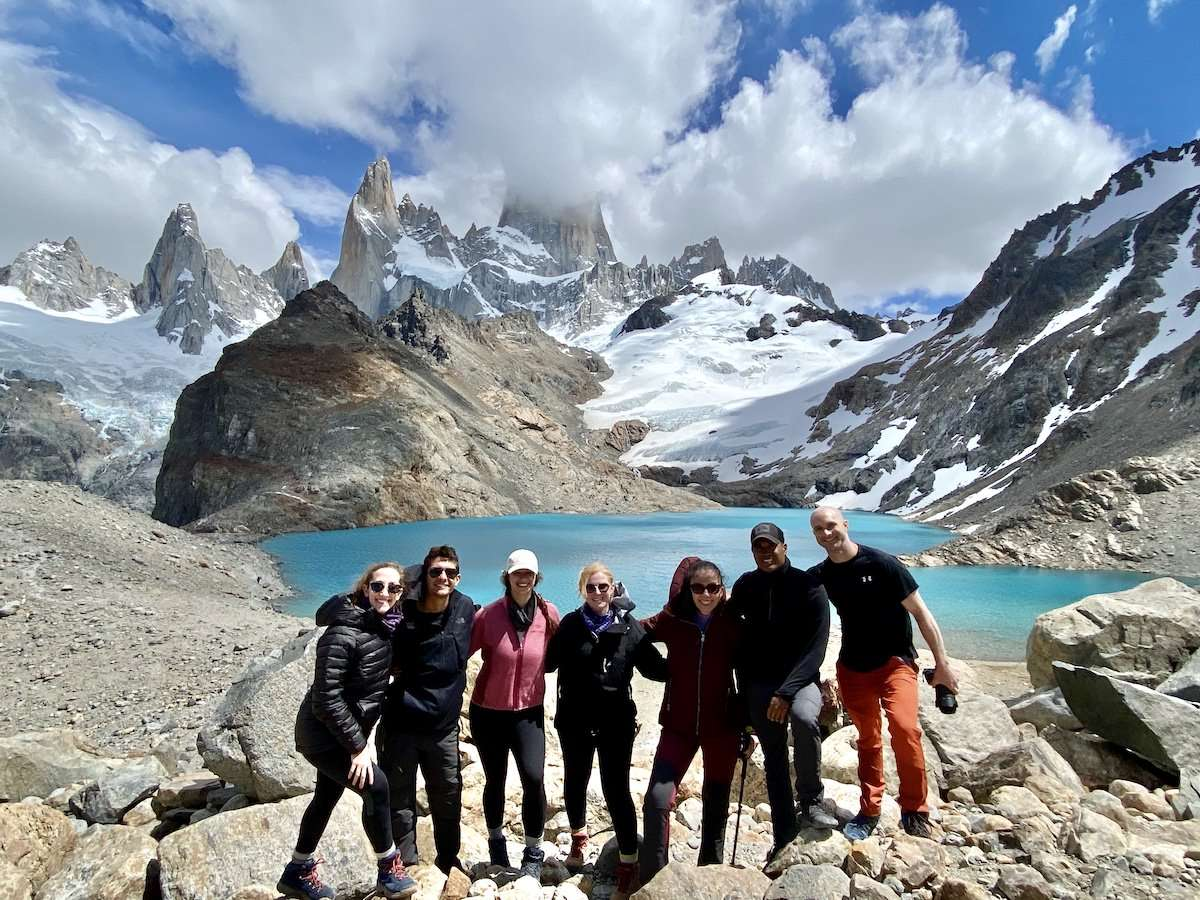 At the top of Mount Fitz Roy