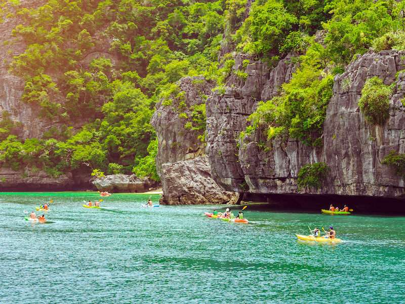Kayaking in Ang Thong National Park