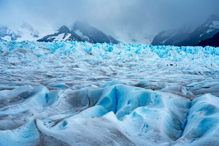 Sea of ice in Perito Moreno