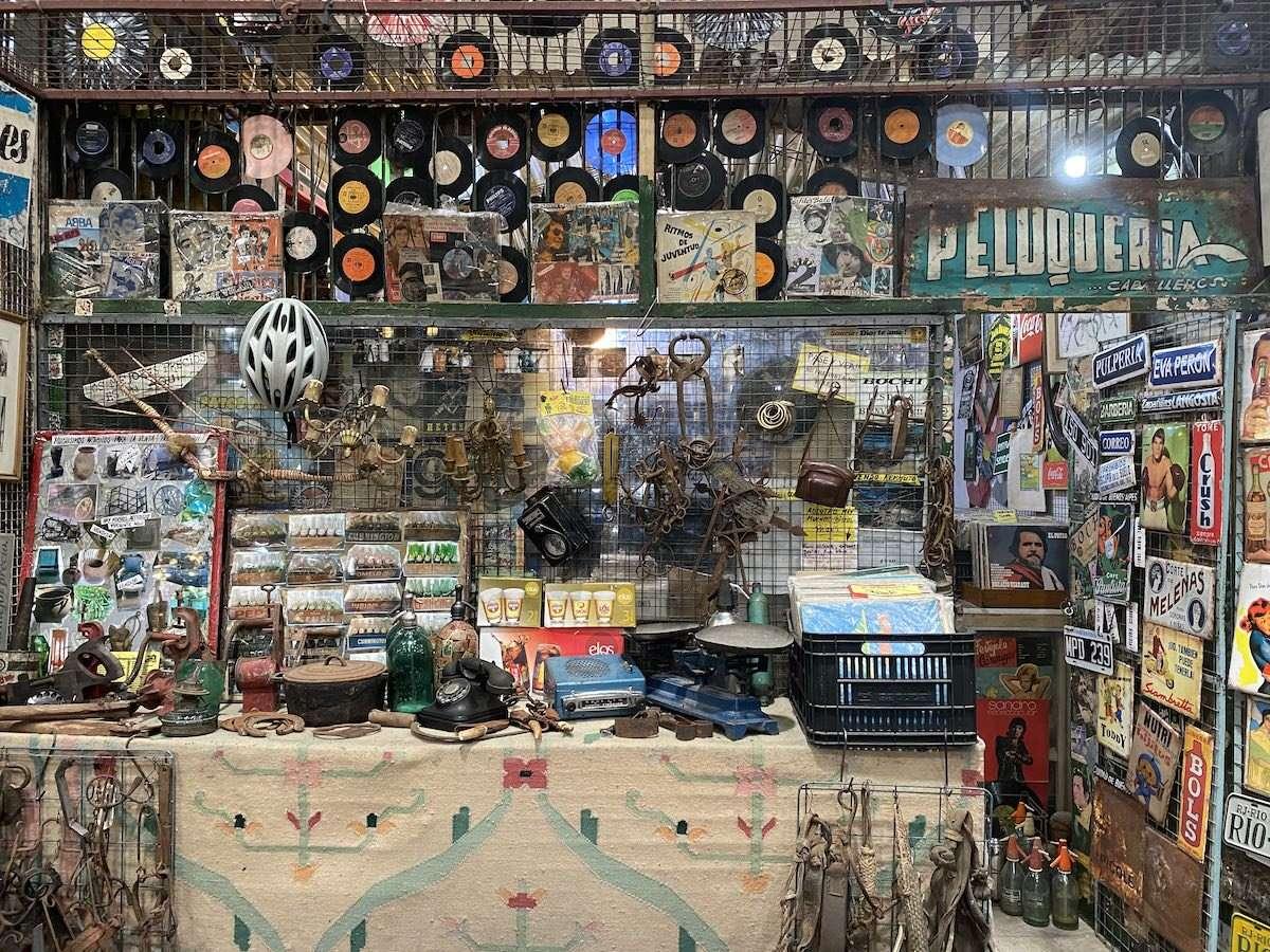 Old school storefront in San Telmo market
