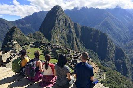 Machu Picchu Peri group looking out