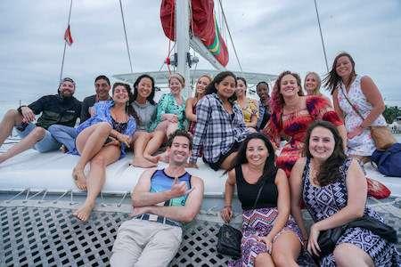 Belize group sunset sailing