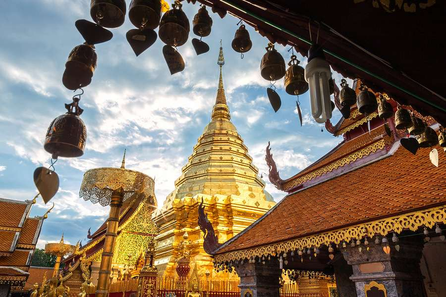 Wat Phra Chiang Mai Thailand perspective