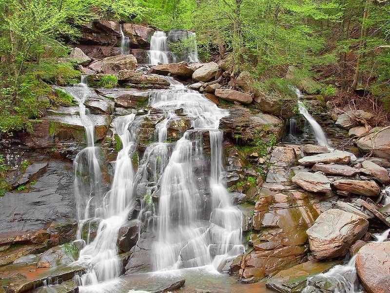 Beautiful waterfall in the Catskills